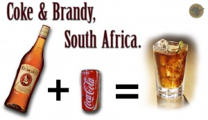 Brandy & Coke Diagram. Quickly done in Photoshop.